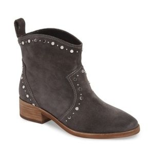 Dolce Vita Tobin Studded Booties Gray Suede